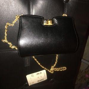 Vintage Rodo Clutch w/ gold strap
